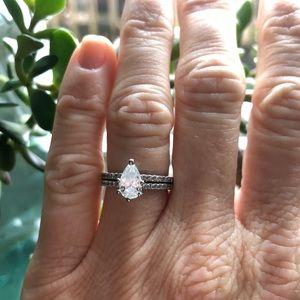 Jewelry - GIA Certified Pear Brilliant Diamond Wedding Set